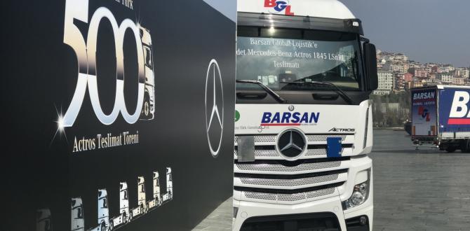 Mercedes-Benz Türk, Barsan Global Lojistik'e 500 Actros